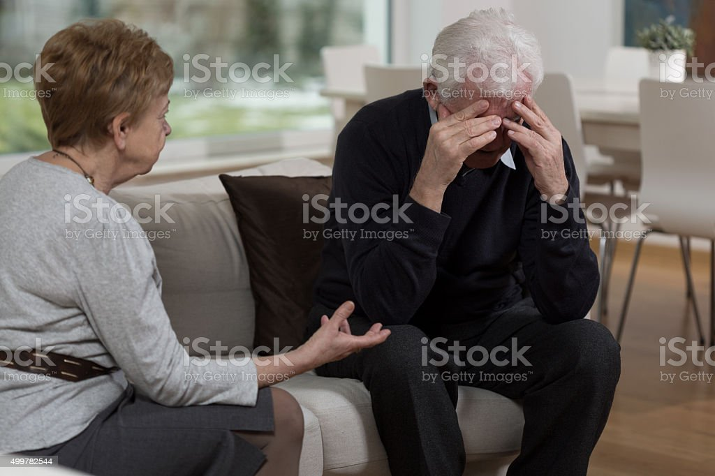 Problems in marriage stock photo