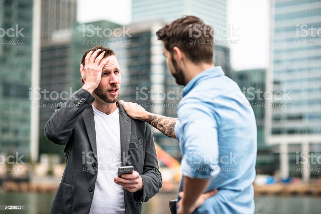 Problems in the business stock photo