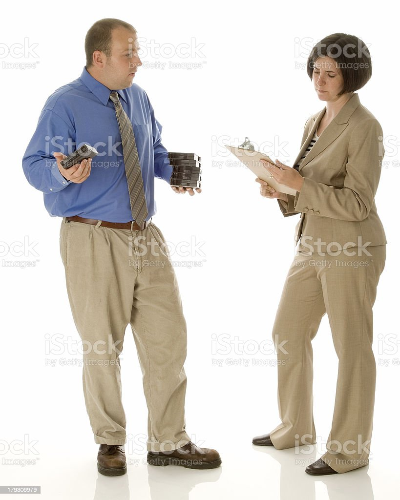 Problems in the IT Department stock photo