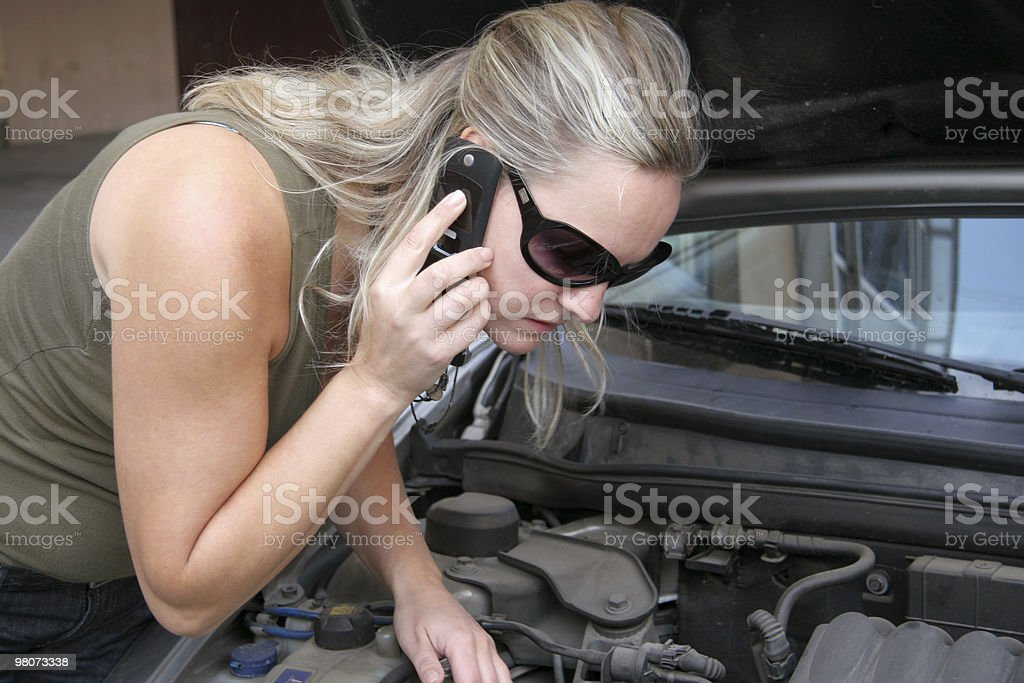Problems whith car royalty-free stock photo