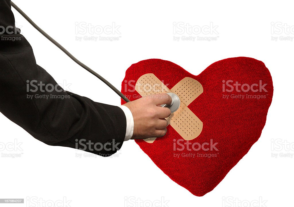 Problems With a Broken Heart royalty-free stock photo