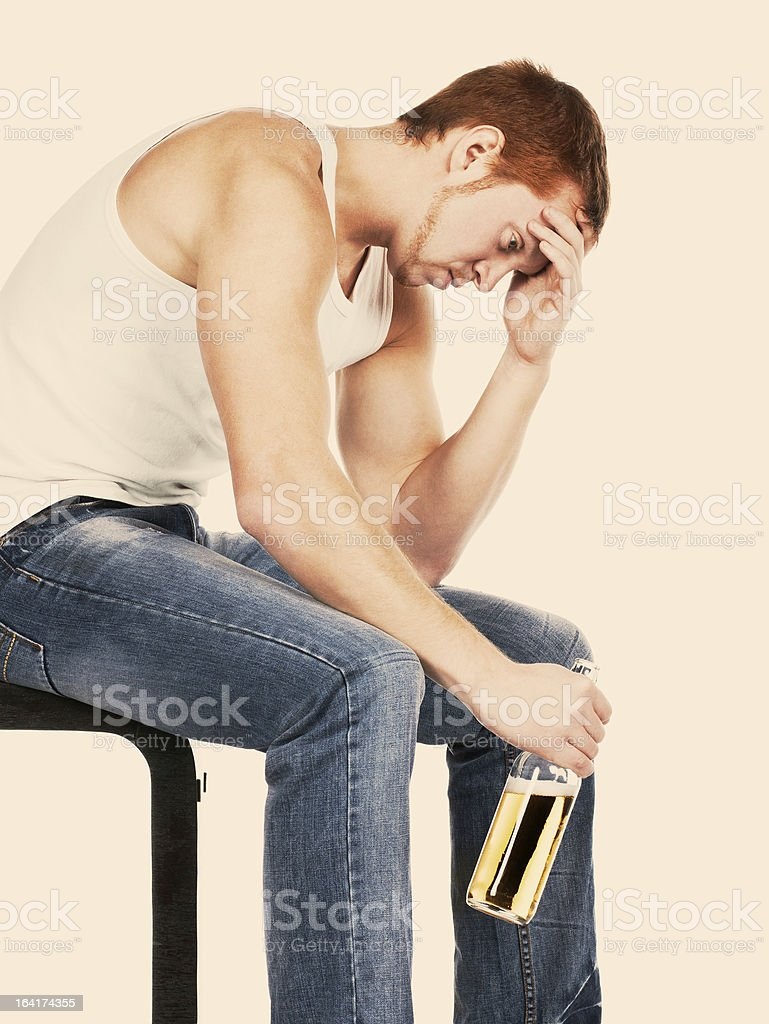 Problems with alcohol. stock photo