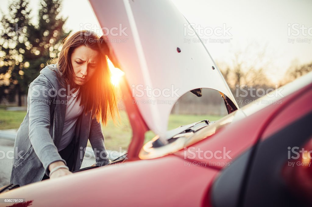 Problems with car stock photo