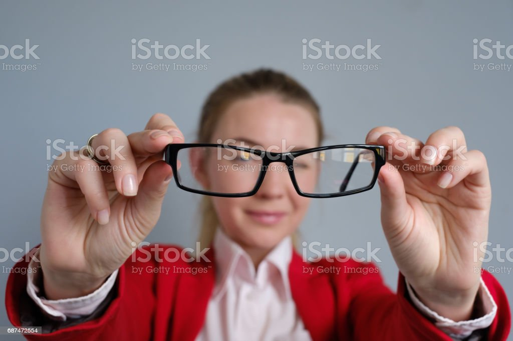 Problems with eyes stock photo