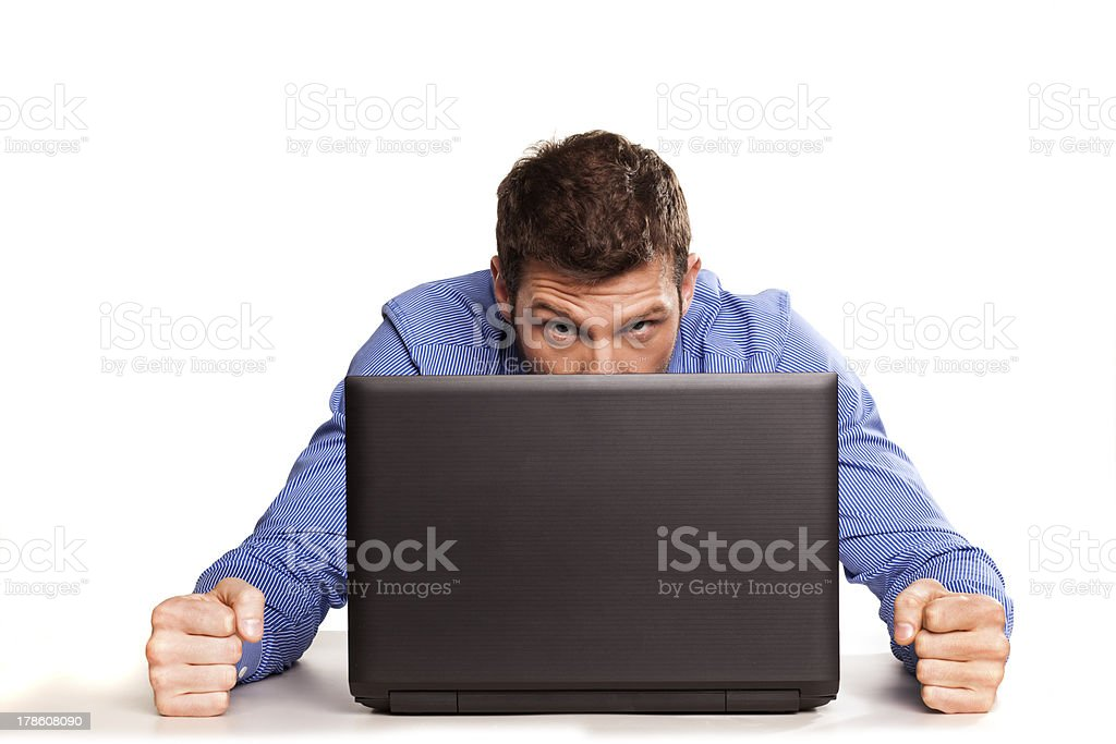 problems with laptops stock photo