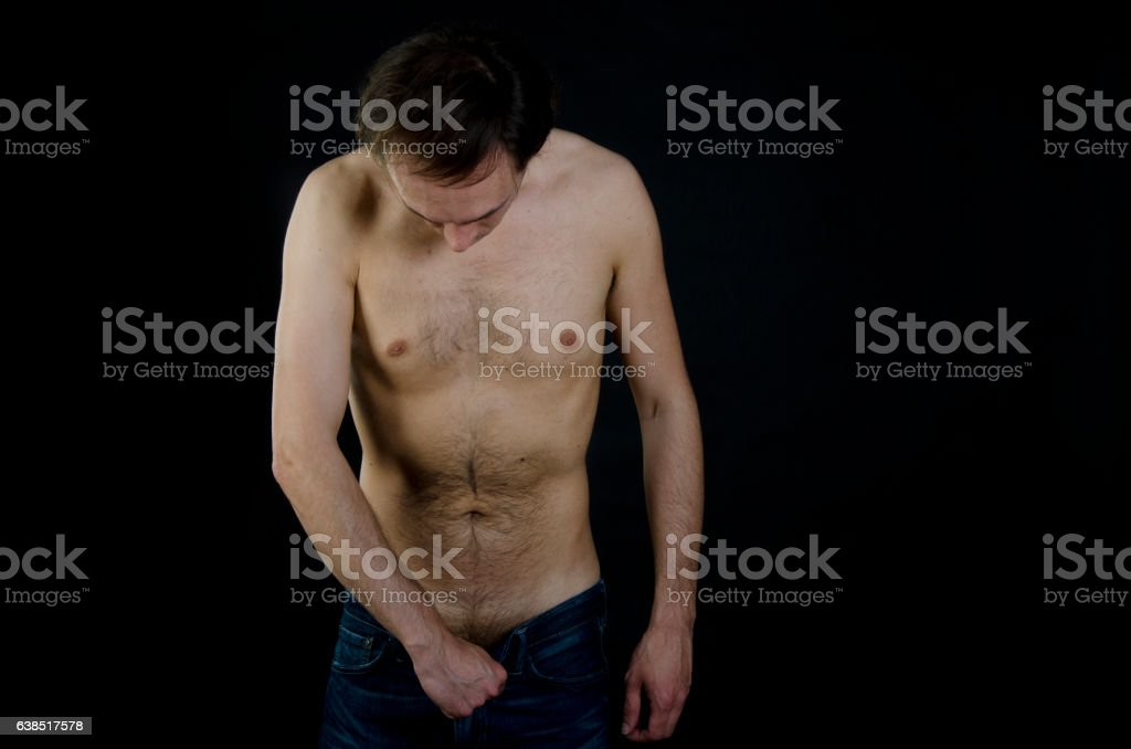 Problems with male health. stock photo