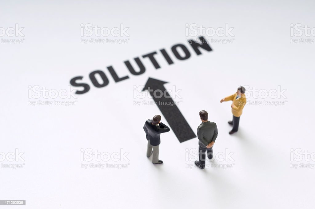 Problem-Solution royalty-free stock photo