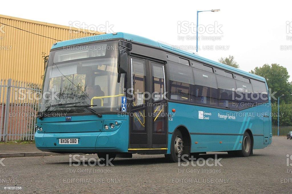 BMC Probus bus on the street stock photo