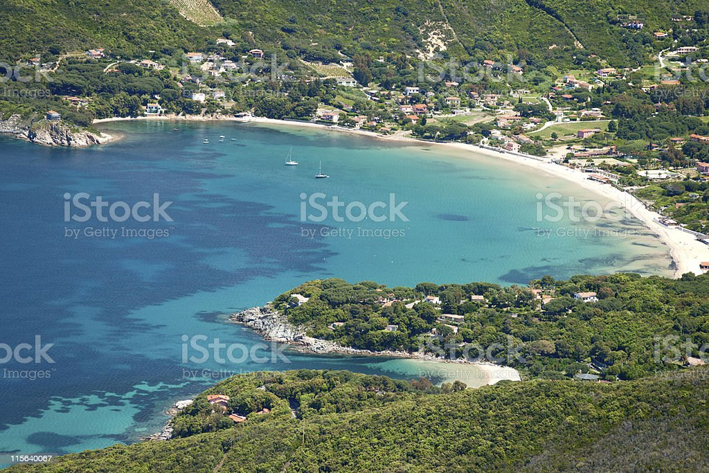 Procchio, marciana, Elba island, Italy. stock photo