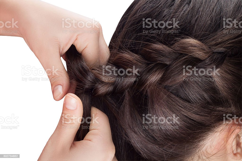 procedure weave braid stock photo