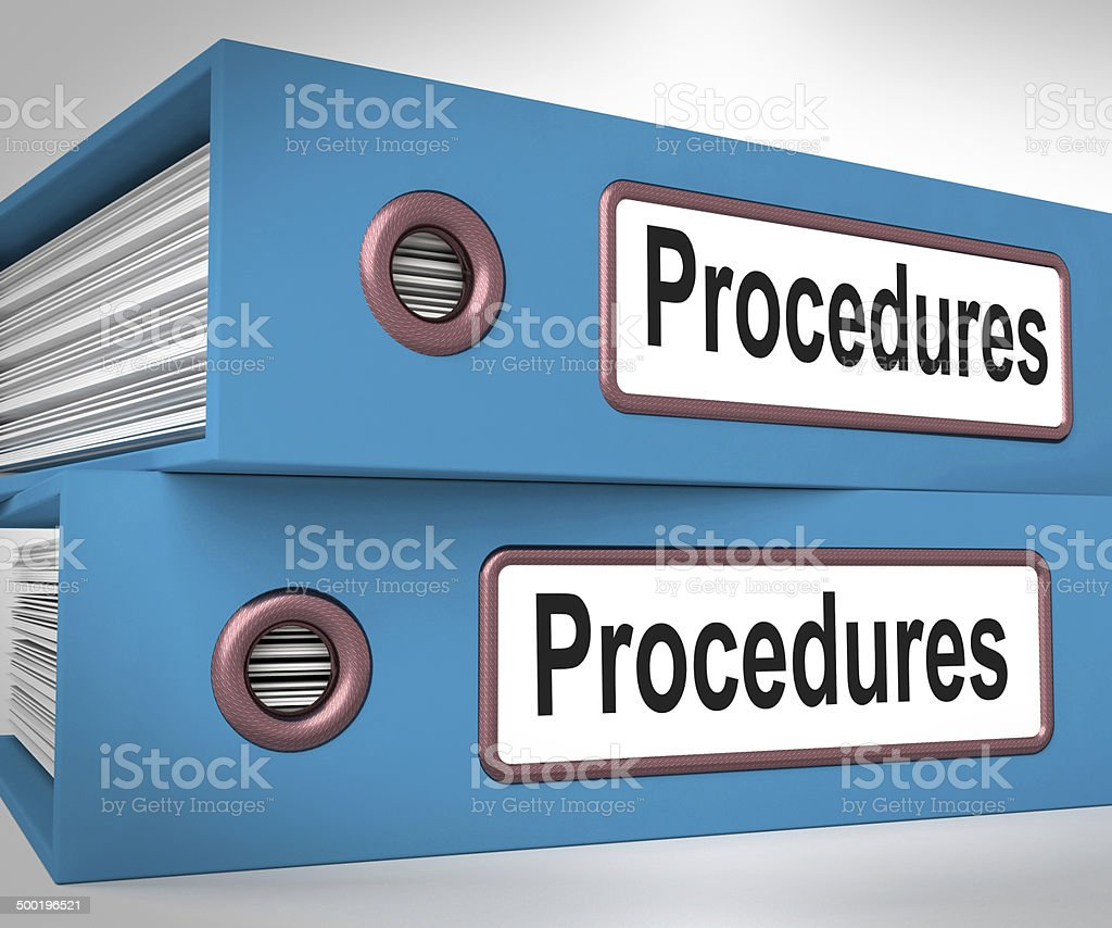 Procedures Folders Mean Correct Process And Best Practice stock photo