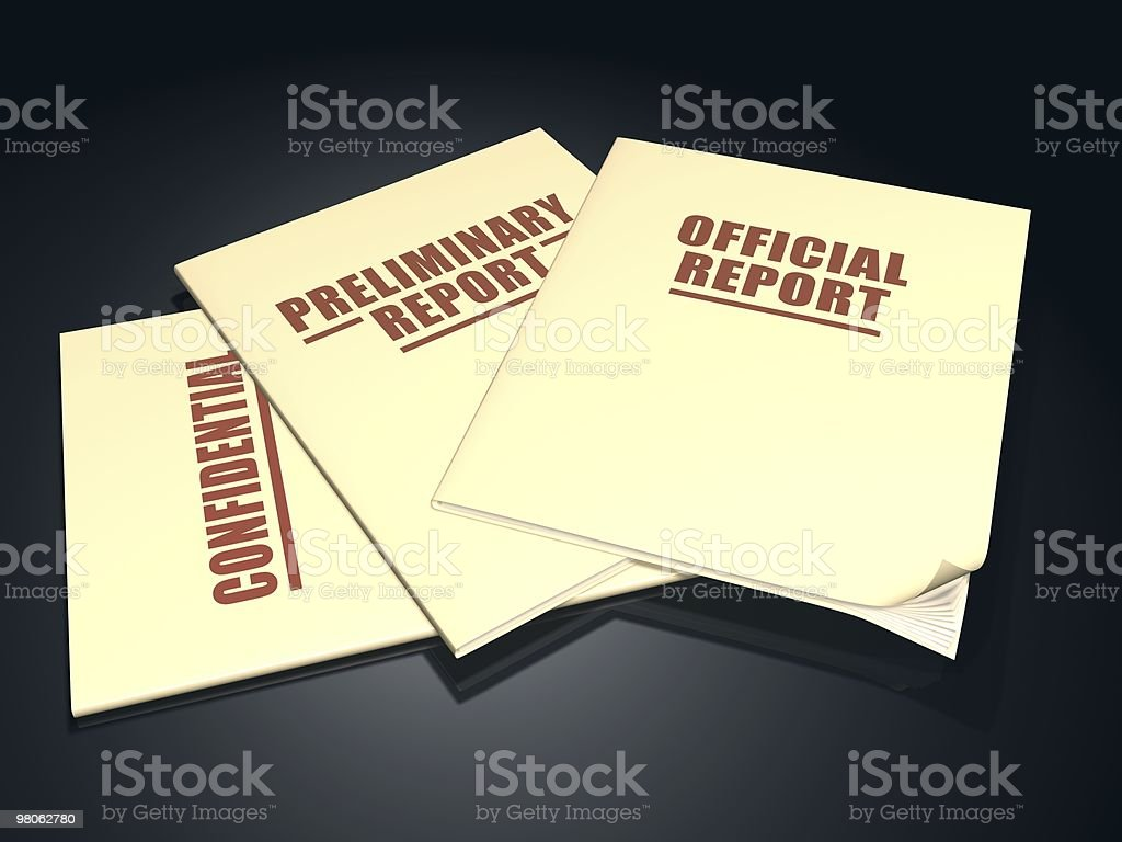 Proceeding Documents stock photo