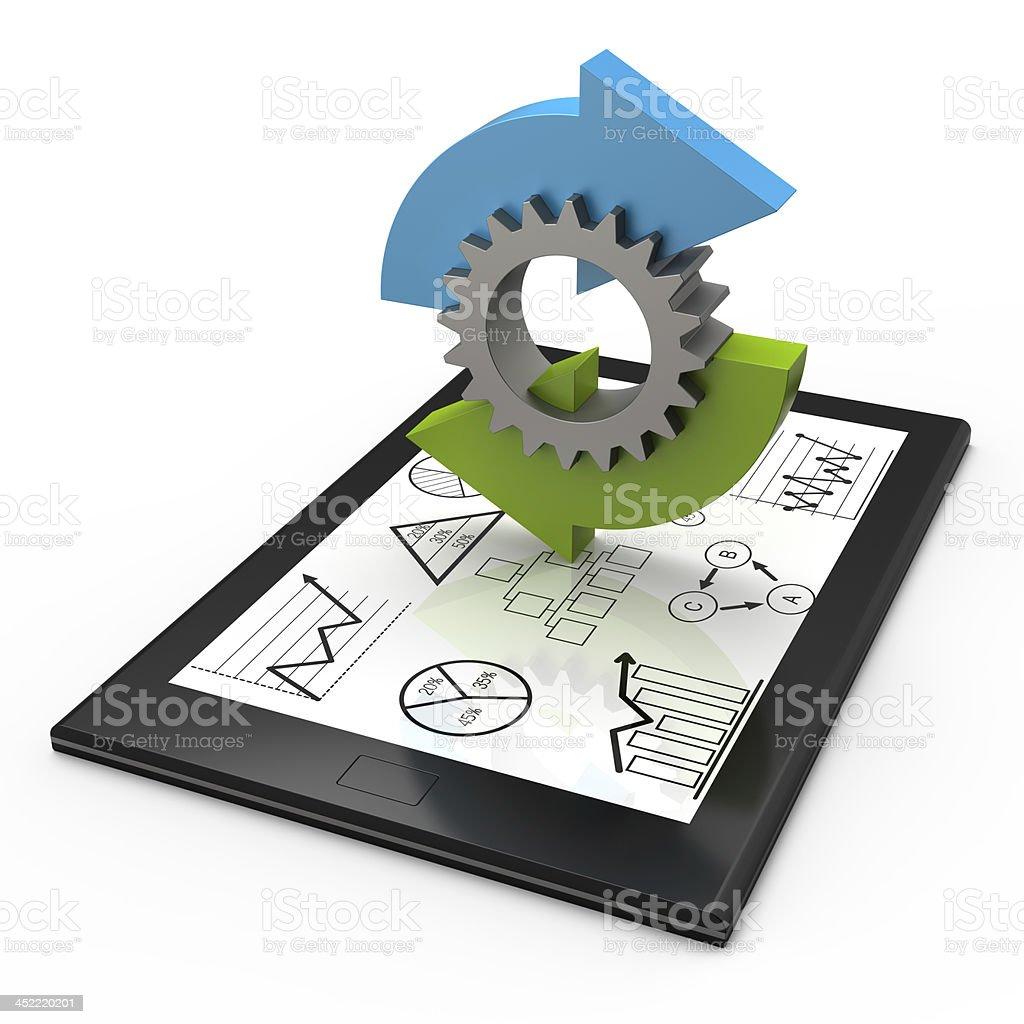 Process charts concept stock photo