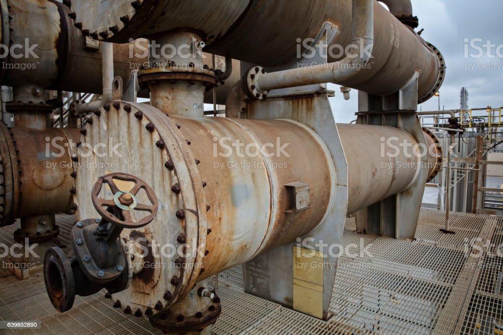 Process Cooler or Heat Exchanger stock photo
