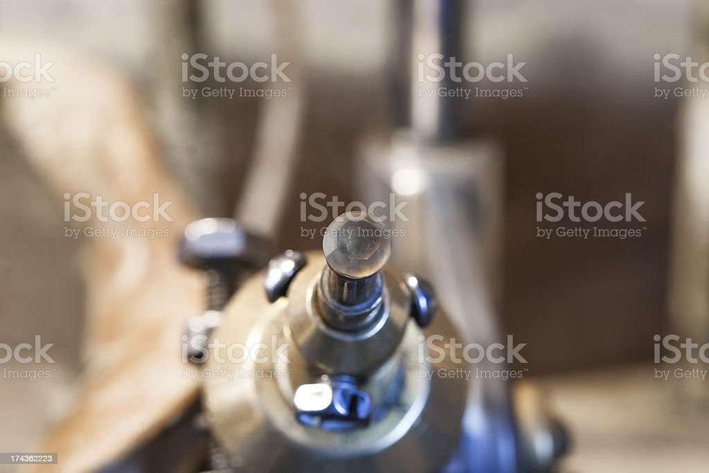 Process cutting gemstone Citrine. Type of cut - Portuguese stock photo
