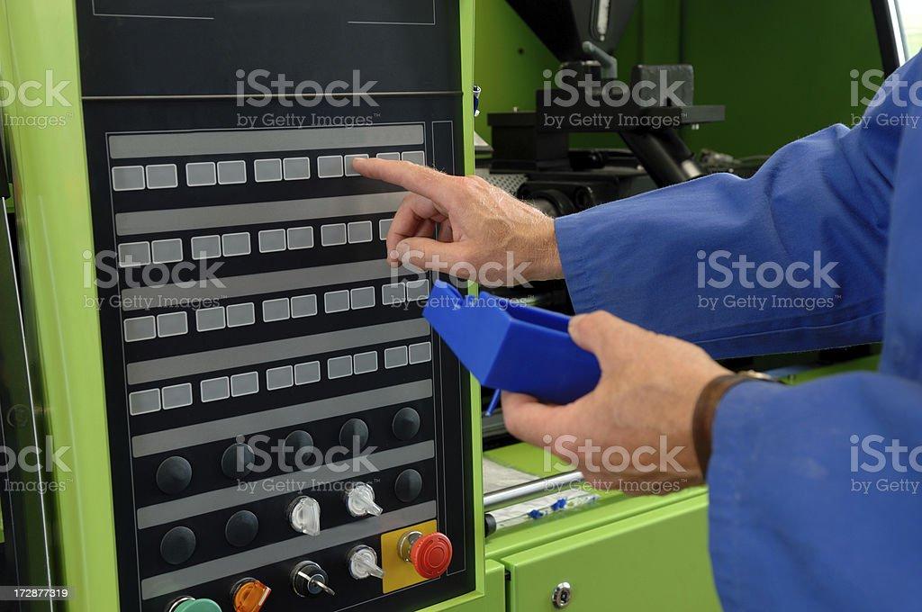 Process engineer at work stock photo