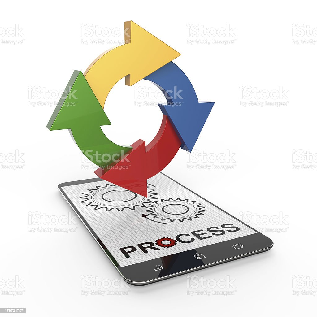 Process flow chart diagram royalty-free stock photo