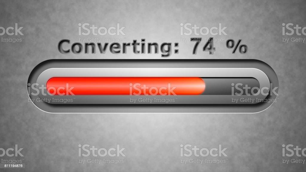 Process of Converting stock photo