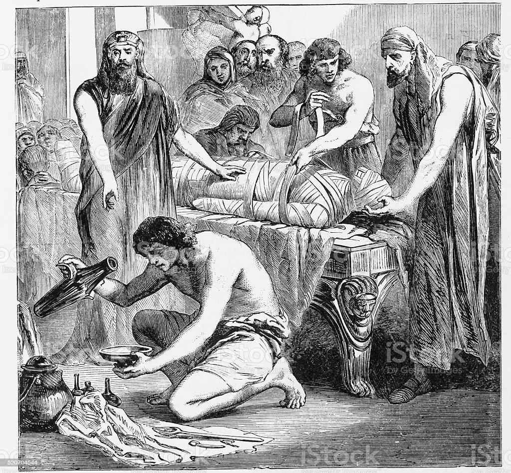Process of Embalming stock photo