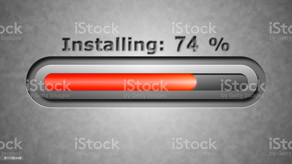Process of Installing stock photo