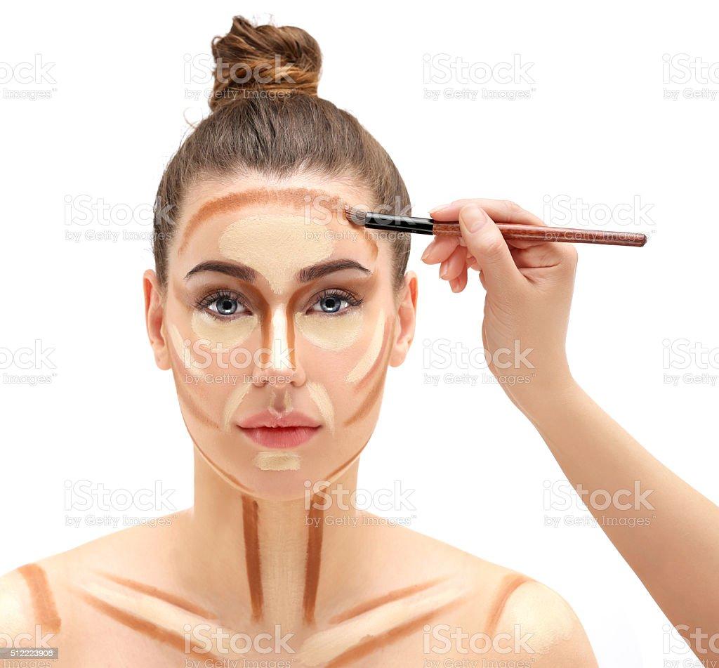 Process of make up stock photo