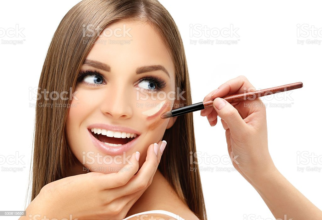 Process of make up stock photo