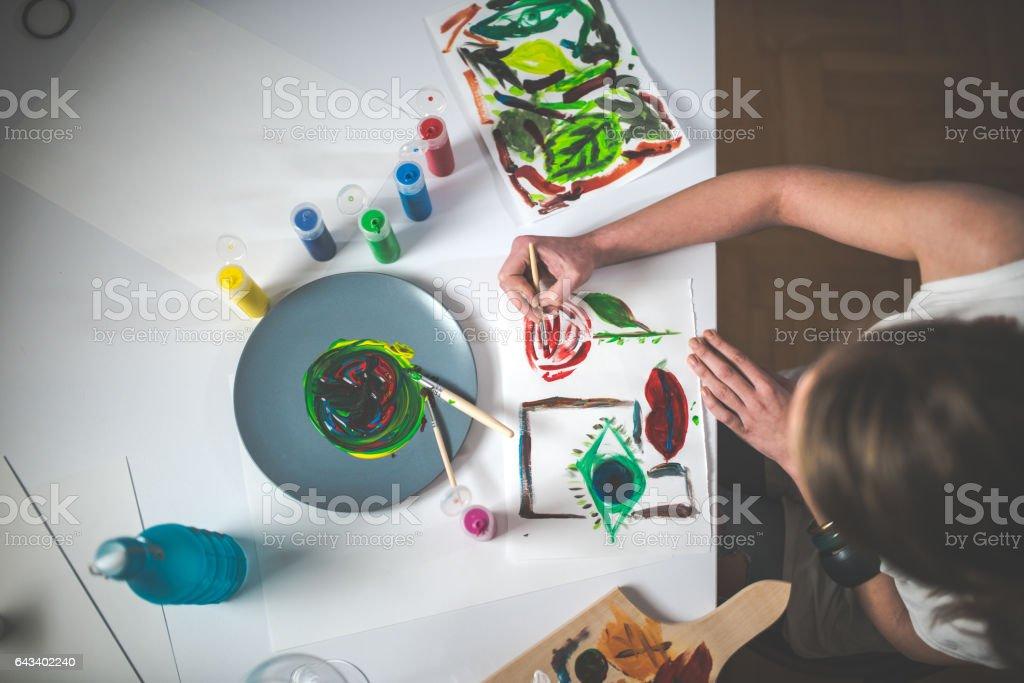 Process of making art stock photo