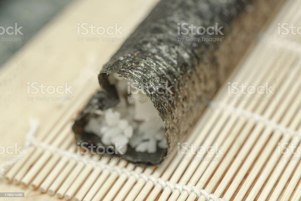 process of making sushi royalty-free stock photo