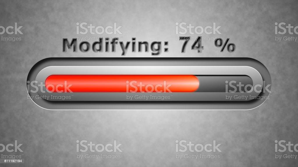 Process of Modifying stock photo