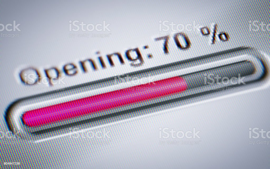 Process of Opening stock photo