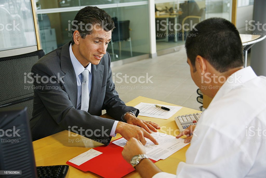 Process of Selling A New Car royalty-free stock photo