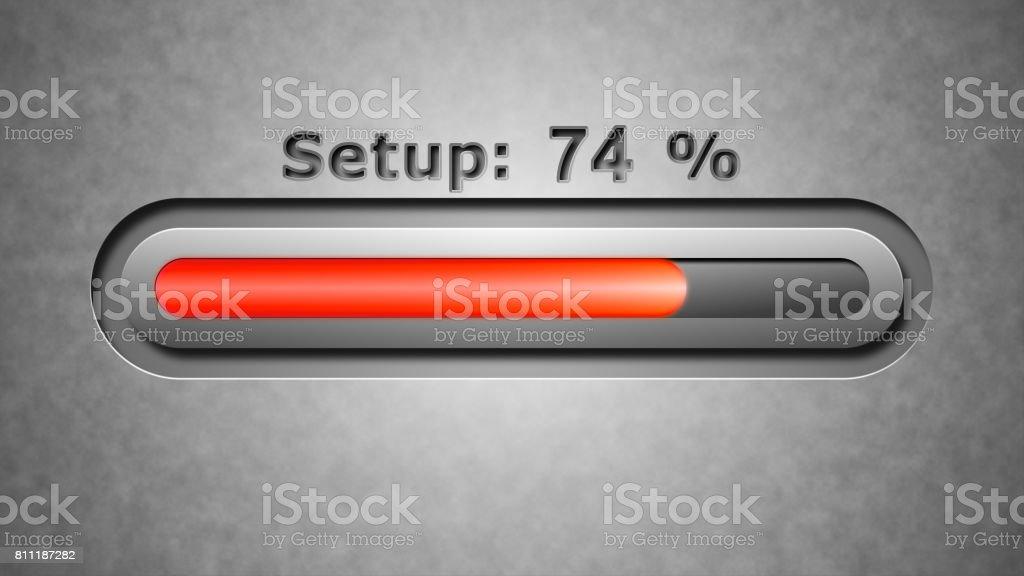 Process of Setup stock photo
