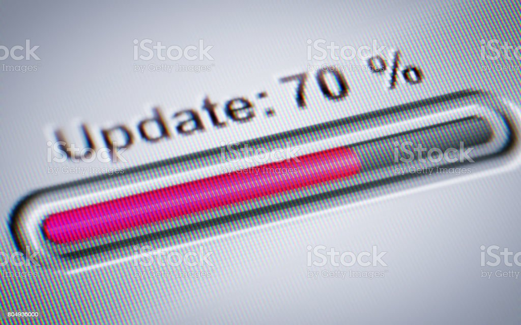Process of Updating stock photo