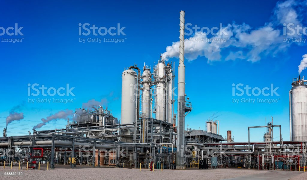 Process Unit in Operation stock photo