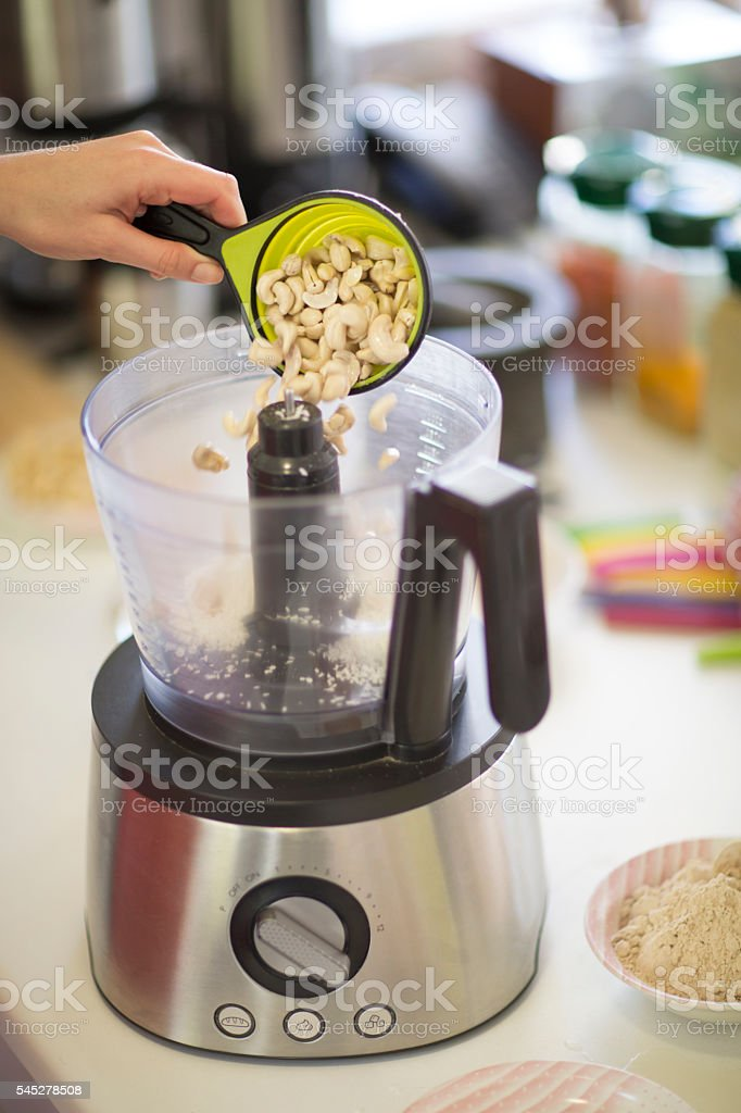 Processing Cashew Nuts stock photo