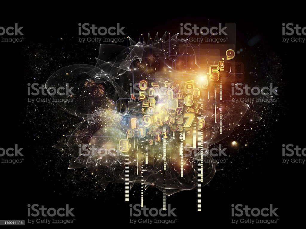 Processing Cloud Technology royalty-free stock vector art