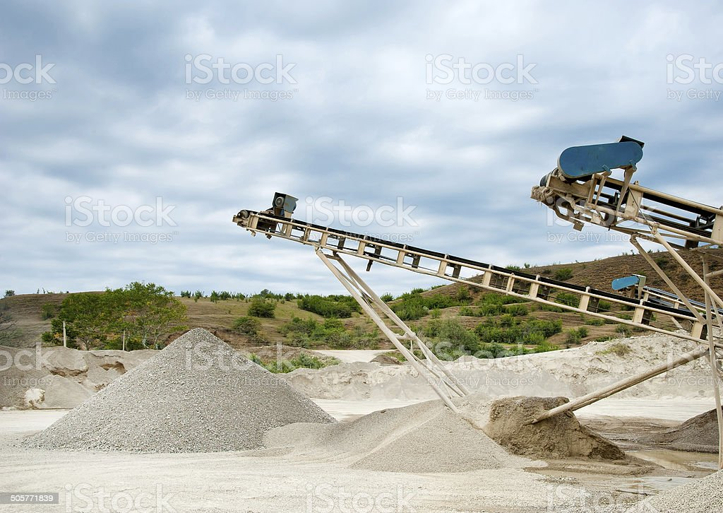 processing plant stones royalty-free stock photo