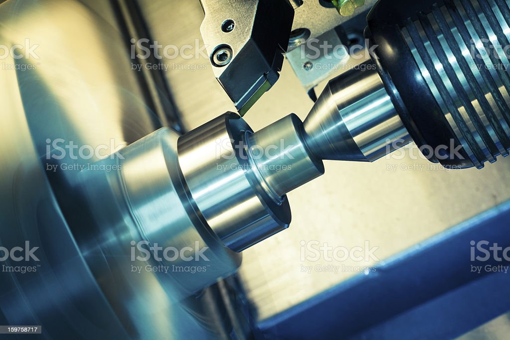 Processing with CNC Latch using a high tech machine  stock photo