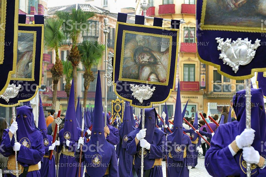Procession during the Semana Santa stock photo