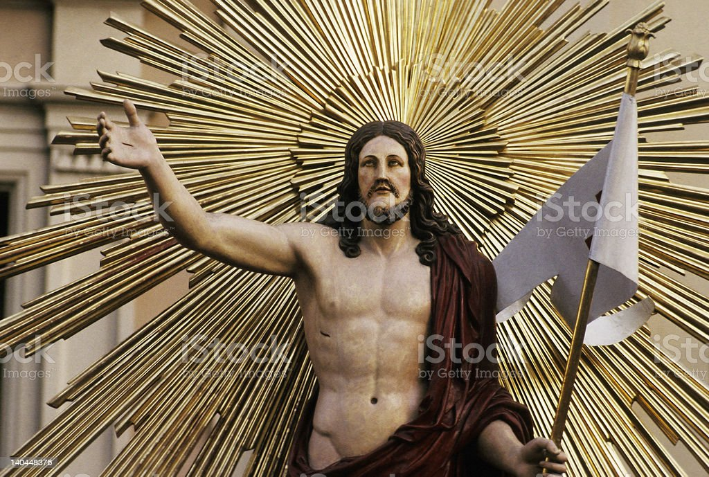Procession in Tarquinia - Revive Christ royalty-free stock photo