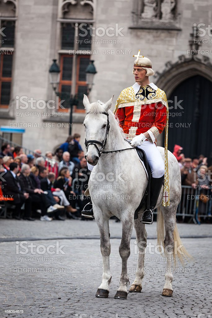 Procession of the Holy Blood on Ascension Day in Bruges royalty-free stock photo