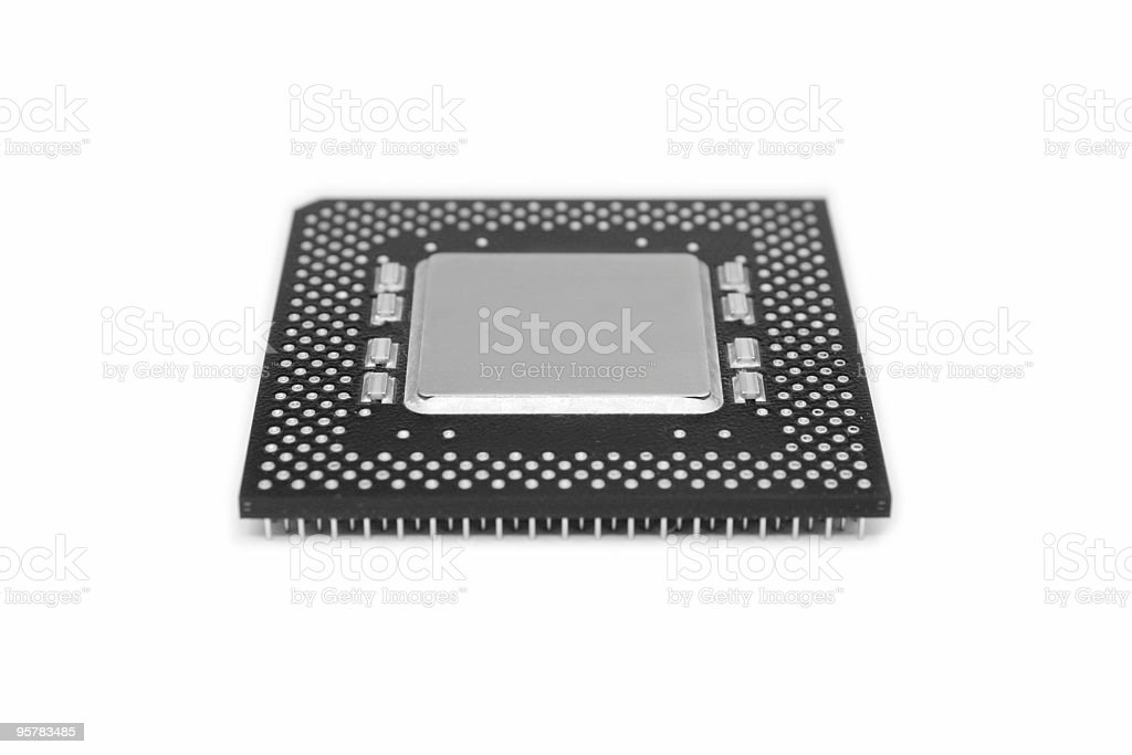 Processor black & white stock photo