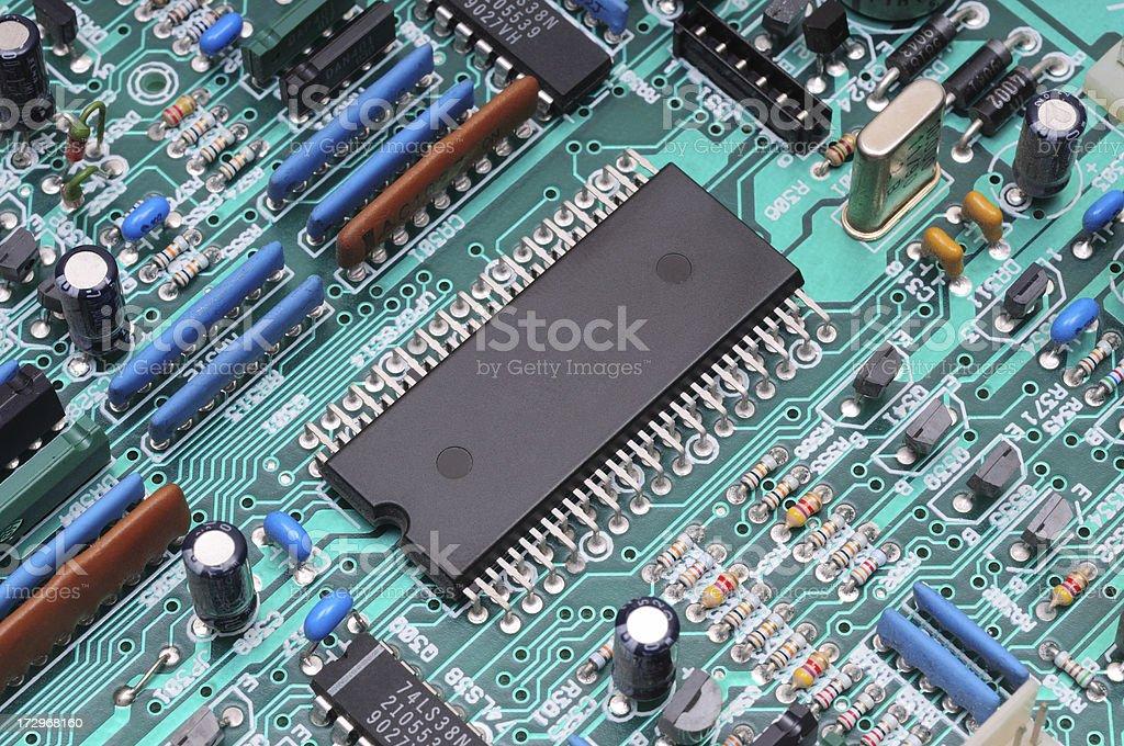 Processor board. Macro photo stock photo