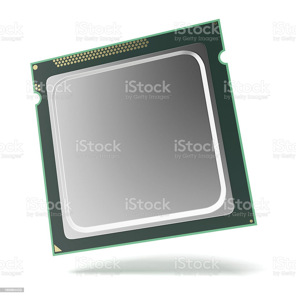 Processor chip royalty-free stock photo