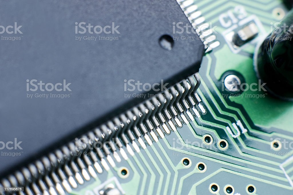 Processor Circuit Board royalty-free stock photo