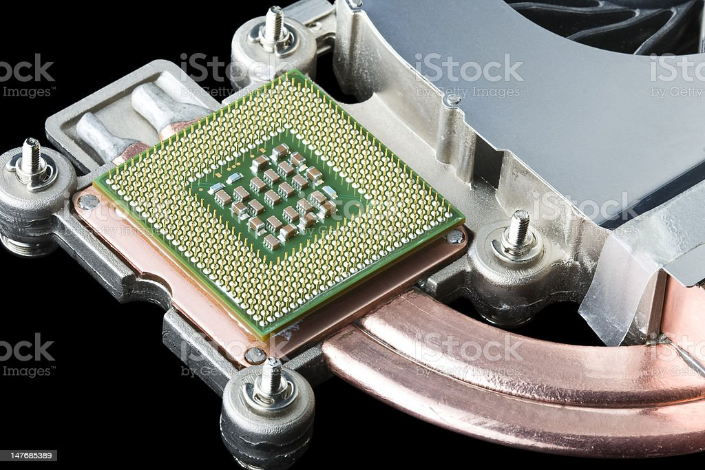 Processor, Heat Sink and Fan royalty-free stock photo