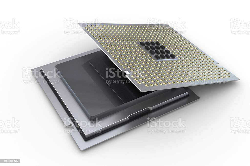 Processor Isolated royalty-free stock photo