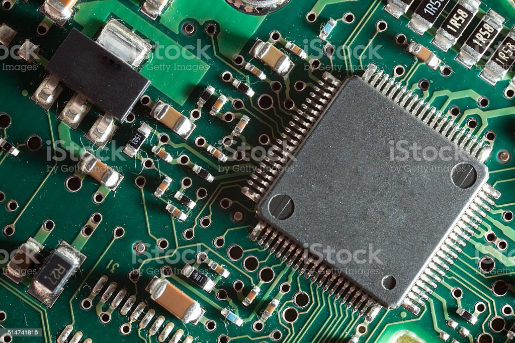 Processor on board stock photo