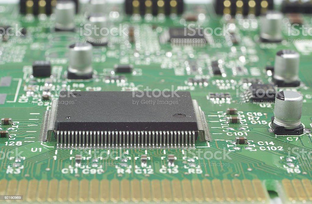 processor on circuit board stock photo