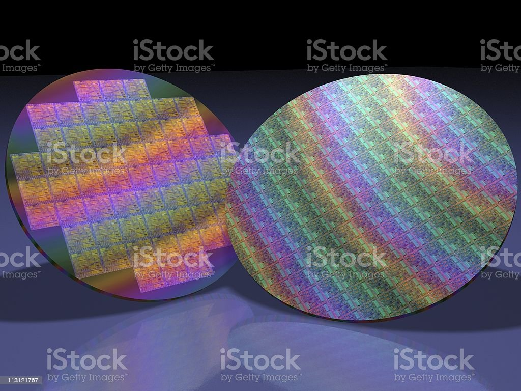 Processor Wafers royalty-free stock photo